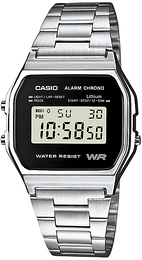 Casio Casio Collection Stål 36.8x33.2 mm A158WEA-1EF