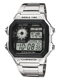 Casio Casio Collection LCD/Stål 42x42 mm AE-1200WHD-1AVEF