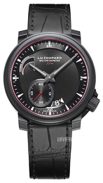 Chopard L.U.C 8HF Power Control Sort/Læder Ø42 mm 168575-9001