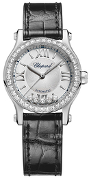 Chopard Happy Sport 30 MM Automatic Sølvfarvet/Læder Ø30 mm 278573-3003