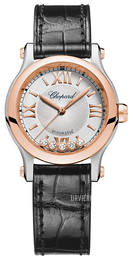 Chopard Happy Sport 30 MM Automatic Sølvfarvet/Læder Ø30 mm 278573-6001