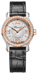 Chopard Happy Sport 30 MM Automatic Sølvfarvet/Læder Ø30 mm 278573-6003