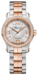 Chopard Happy Sport 30 MM Automatic Sølvfarvet/18 karat rosa guld Ø30 mm 278573-6004