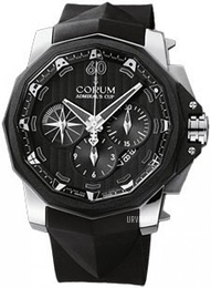 Corum Admirals Cup Challaenger 48 Sort/Gummi Ø48 mm 753.935.06-0371 AN52