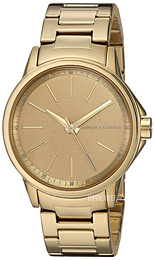 Emporio Armani Exchange Dress Beige/Gul guldtonet stål Ø36 mm AX4351