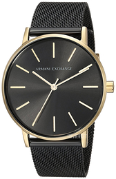 Emporio Armani Exchange Dress Sort/Stål Ø36 mm AX5548