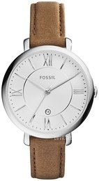 fe71a11a8a3 Fossil Dress Sølvfarvet/Læder Ø36 mm ES3708