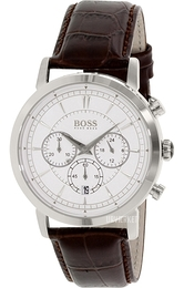 Hugo Boss Chronograph Sølvfarvet/Læder Ø42 mm 1512871