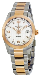 Longines Conquest Ladies Sølvfarvet/Stål Ø29.5 mm L2.285.5.76.7