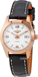 Longines Conquest Ladies Sølvfarvet/Læder Ø29.5 mm L2.285.8.76.3