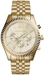 Michael Kors Lexington Champagne/Gul guldtonet stål Ø46 mm MK8281