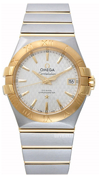 Omega Constellation Co-Axial 35mm Sølvfarvet/18 karat guld Ø35 mm 123.20.35.20.02.006