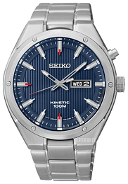 Seiko Kinetic Sort/Stål Ø43 mm SMY149P1