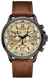 Swiss Military Sport Beige/Læder Ø46 mm 06-4224.30.002