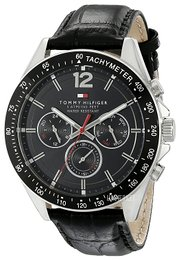 Tommy Hilfiger Luke Sort/Læder Ø46 mm 1791117