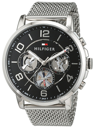 Tommy Hilfiger Keagan Sort/Stål Ø44 mm 1791292