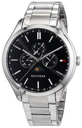 Tommy Hilfiger Oliver Sort/Stål Ø42 mm 1791303