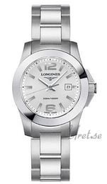 Longines Conquest Ladies Sølvfarvet/Stål Ø29 mm L3.258.4.76.6