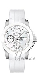 Longines Conquest Ladies Hvid/Gummi Ø41 mm L3.661.4.86.2