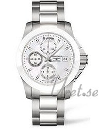 Longines Conquest Ladies Hvid/Stål Ø41 mm L3.661.4.86.6