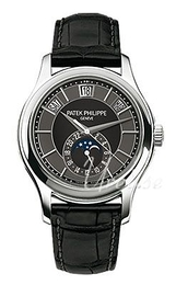 Patek Philippe Complicated Annual Calender Sort/Læder Ø40 mm 5205G/010