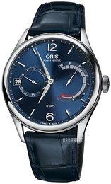 Oris Aviation Blå/Læder Ø43 mm 01 111 7700 4065-Set 1 23 87FC